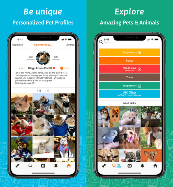 ZooPix App Profile Screenshots