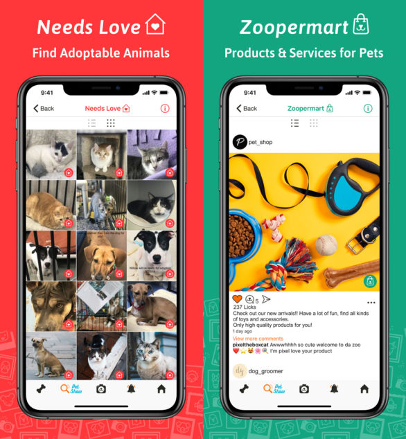ZooPix App Adoptable Pets and Zoopermart Screenshots
