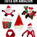 Christmas dog toys collage