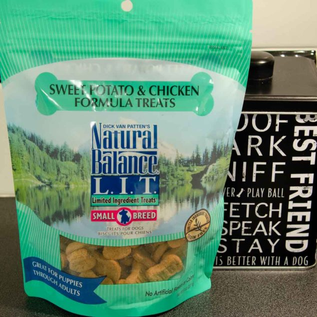 Bag of Natural Balance dog treats