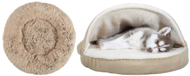Collage of whippet dog beds