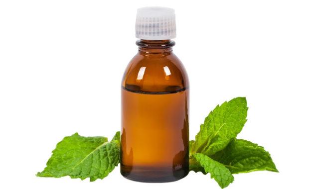 bottle of peppermint oil