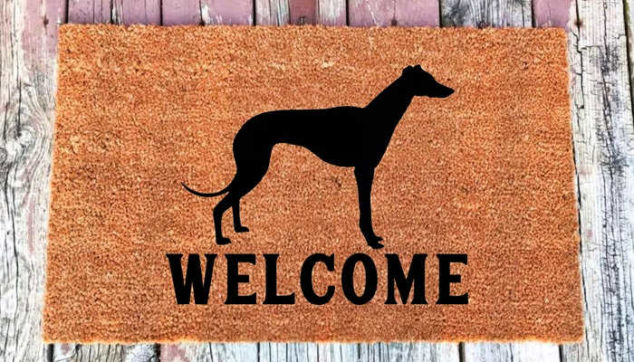whippet welcome mat