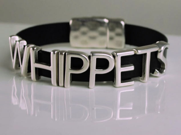 leather whippets bracelet