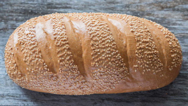 a loaf of sesame seed bread