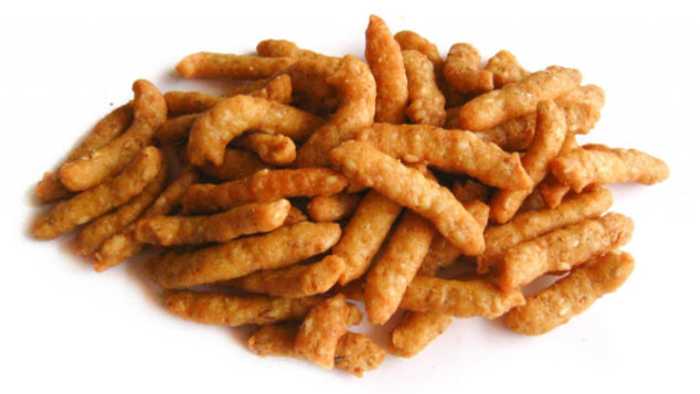 a pile of salted sesame sticks
