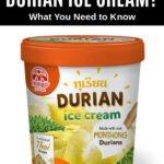 a pint of durian ice cream