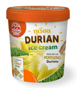 a container of durian ice cream