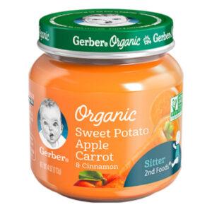 Gerber sweet potato apple carrot organic baby food