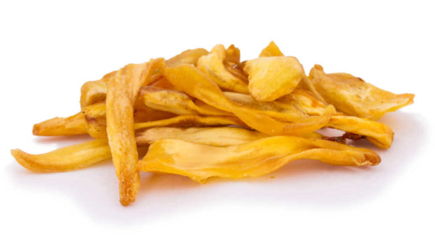 a pile of jackfruit chips