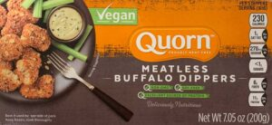 a package of Quorn meatless buffalo dippers