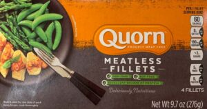 a package of Quorn meatless fillets