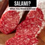 French salami on a cutting board