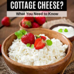a bowl of cottage cheese with strawberries