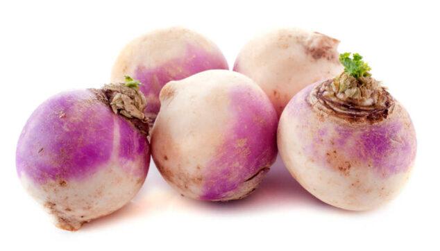 Five fresh turnips