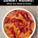 gummy worms in a bowl