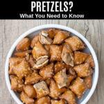 peanut butter pretzels in a bowl