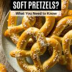 soft pretzels with salt on a plate