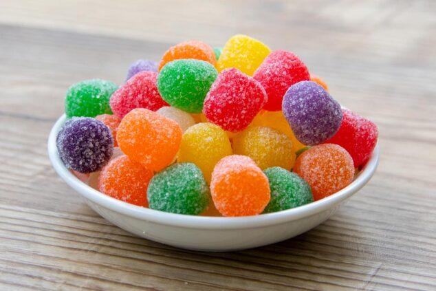 a bowl of gumdrops