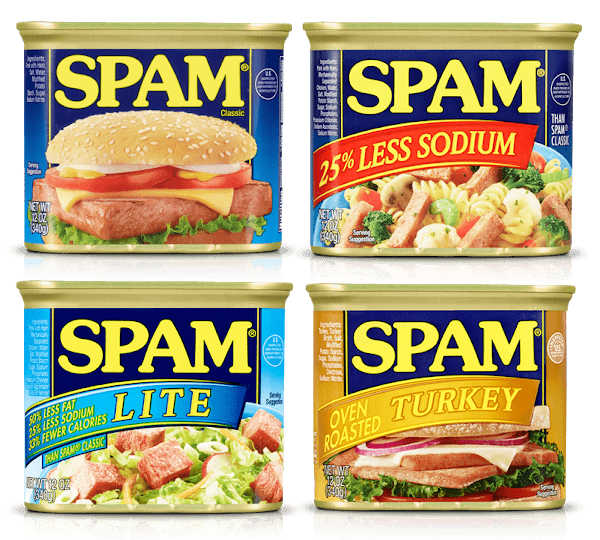 four Spam products