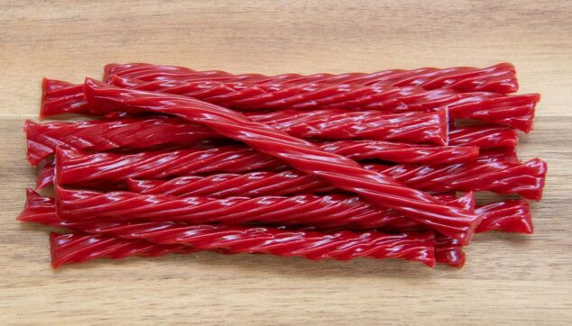 a stack of Twizzlers candy