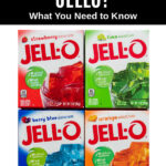 four package of Jello gelatin
