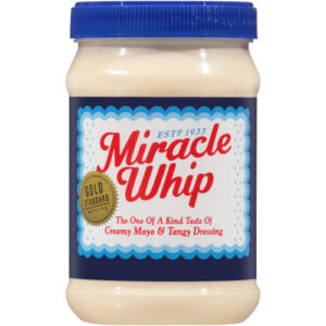 a jar of Miracle Whip mayo