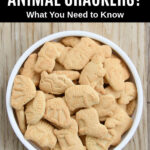 overhead view of a bowl of animal crackers