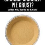 overhead view of a graham cracker pie crust