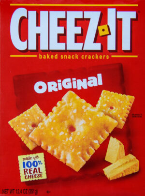 Cheez It Crackers box