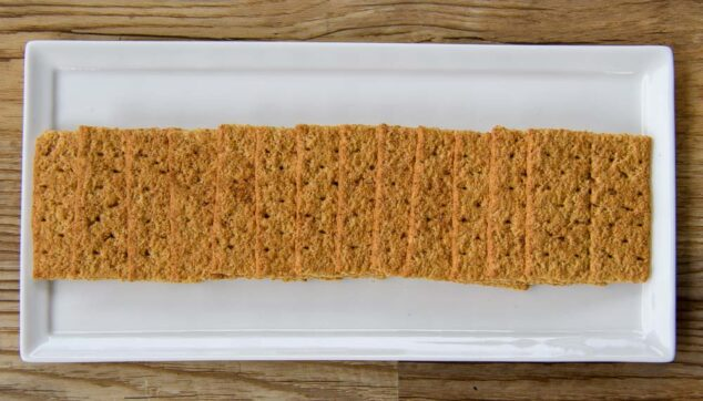 cinnamon graham crackers on a tray