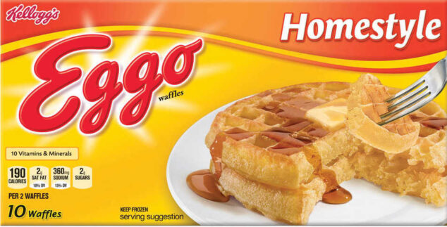 a package of Eggo homestyle waffles