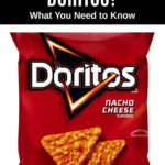 a package of Doritios nacho cheese flavored tortilla chips