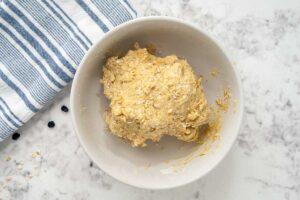 homemade dog treat dough in a bowl