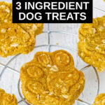 paw shaped 3 ingredient dog treats on a wire rack
