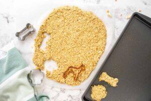 cutting out apple oatmeal dog treats