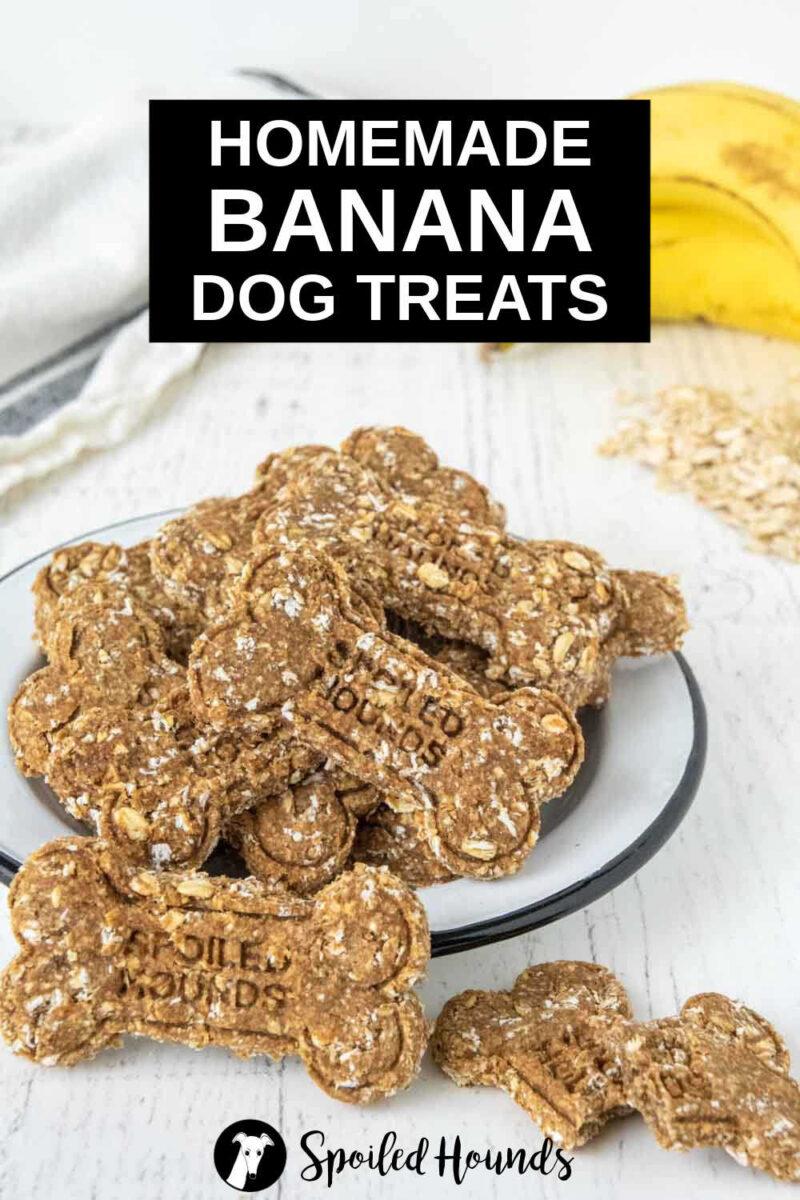 homemade banana dog treats in a bowl