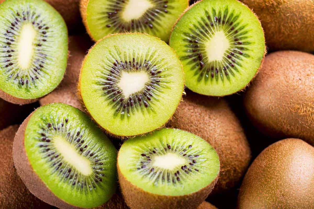a pile of kiwi fruit
