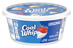 Cool Whip Whipped Topping package