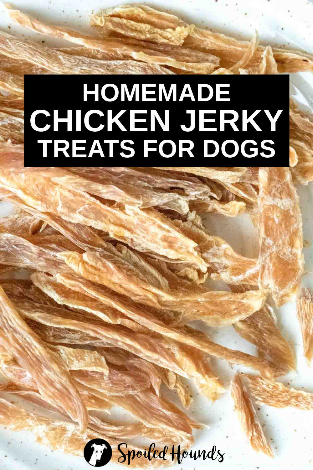 a pile of dehydrated chicken jerky for dogs