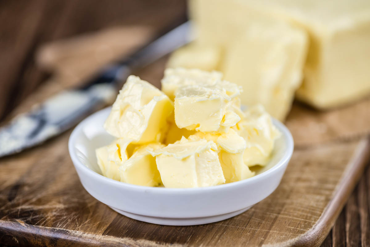 butter slices in a bowl