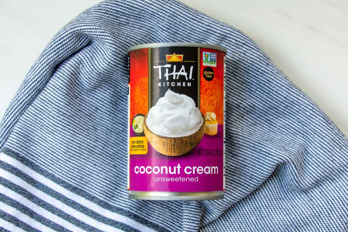 a can of unsweetened coconut cream