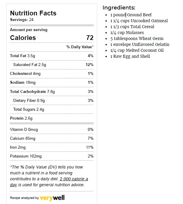 satin balls nutrition facts and ingredients