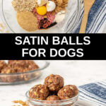 collage of ingredients and satin balls in bowls