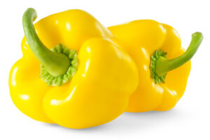 two yellow bell peppers