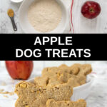 homemade apple dog treats ingredients and baked treats.