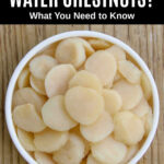 sliced water chestnuts in a bowl.